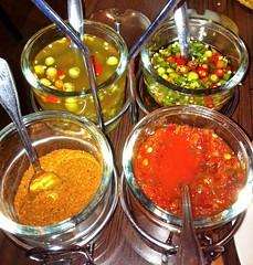 Spicy Thai Peppers and Condiments at Sister Kitchen in Grover Beach