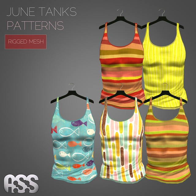 A:S:S - June tank tops - patterns(MESH)