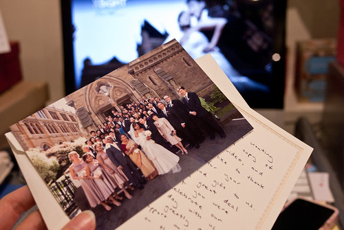 Leit's wedding video and thank you card