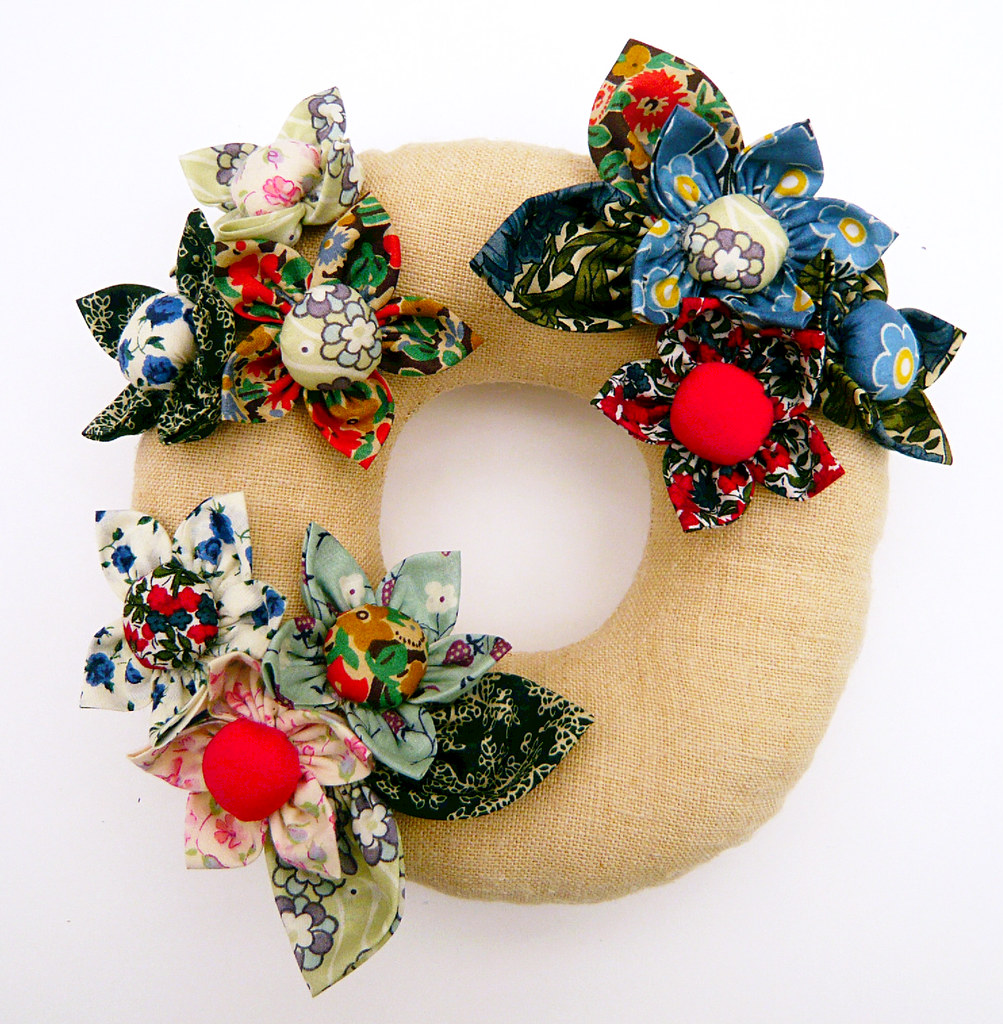 flower wreath pincushion