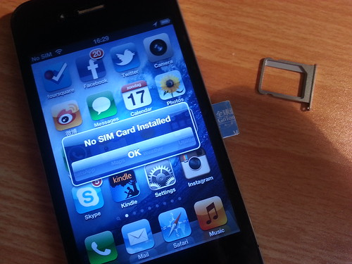 Never put your SIM card into your iPhone without the tray