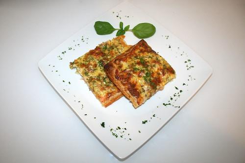 27 - Schwedischer Lachskuchen (Schwedenpizza) / Swedish salmon tarte (Swedish pizza) - Serviert