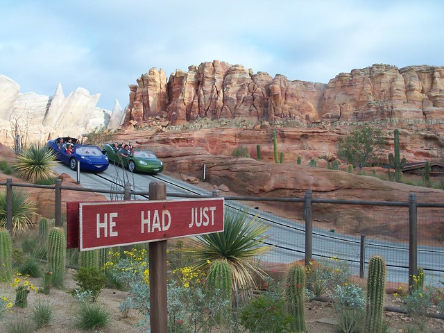 The impressive Radiator Springs Racers attraction.