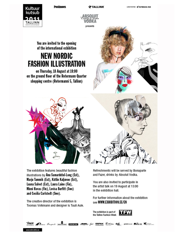 New Nordic Fashion Illustration exhibition invite_Tallinn 2011
