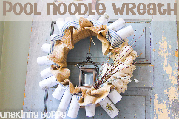 Pool Noodle Wreath titled