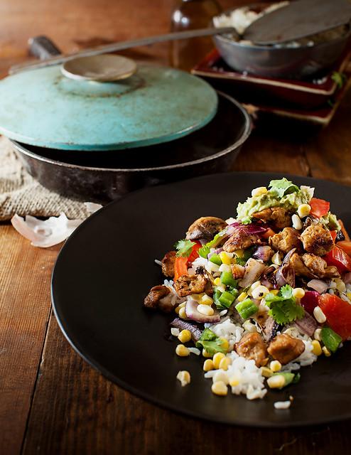 Summer Seitan & Corn Saute