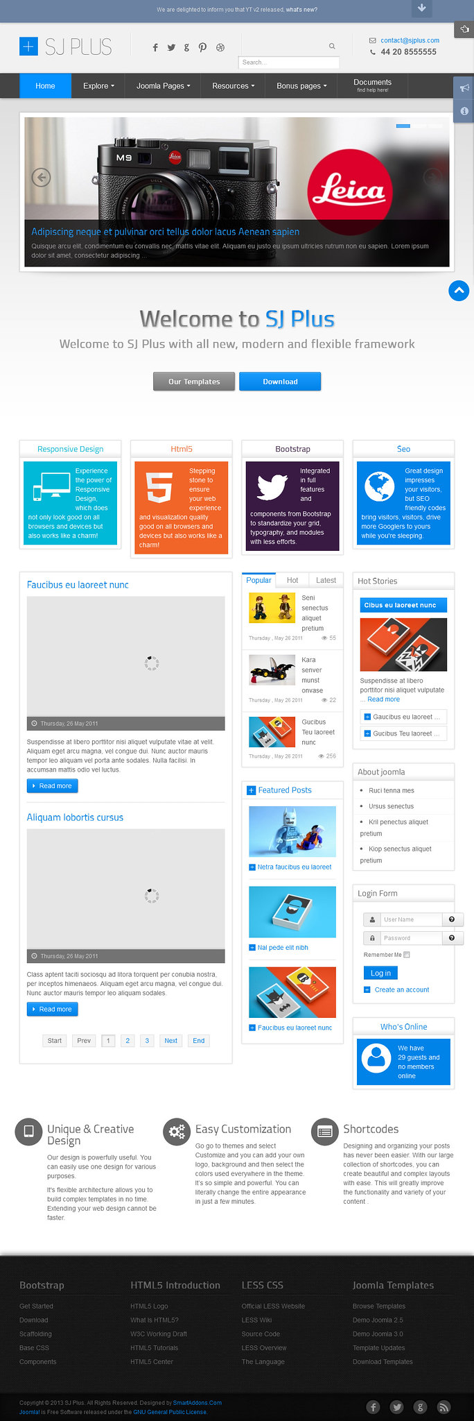 free joomla templates - download 7 free joomla 3 x responsive corporate templates