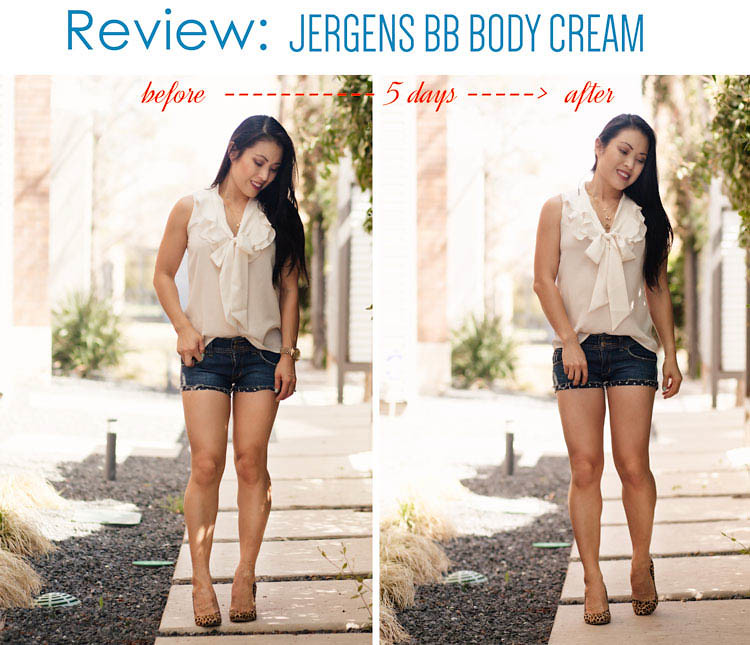 cute & little blog | jergens bb body perfecting skin cream review | before after results
