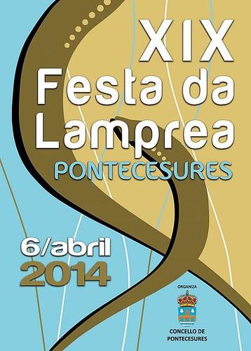 Pontecesures 2014 - XIX Festa da Lamprea - cartel