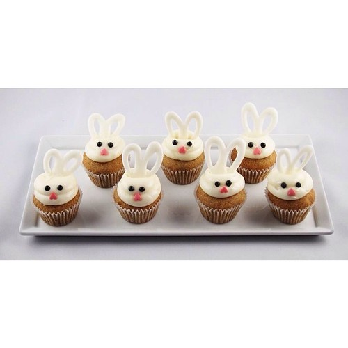 Easter bunny cupcakes for your holiday ☺️ email us to place your order: MissionMinis@gmail.com.