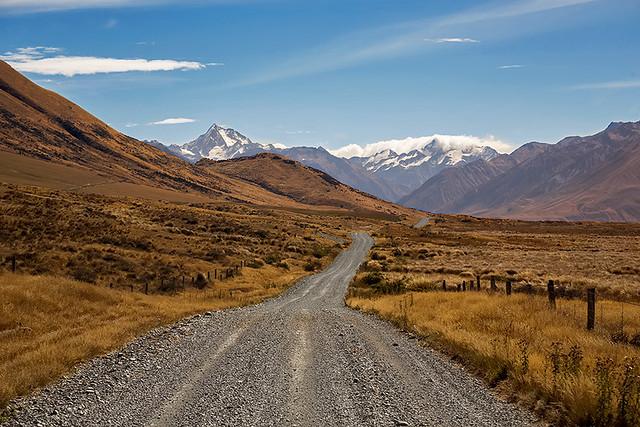 Mt. Potts range, New Zealand.