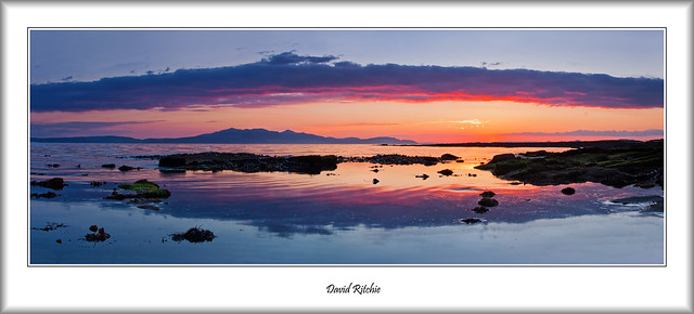 Sunset Across The Clyde From Ardrossan
