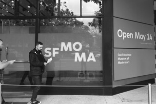 SF MoMA - Opening bw