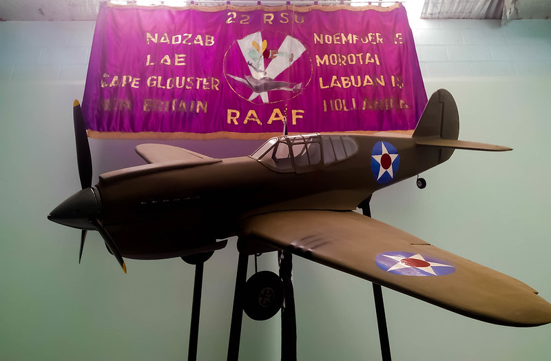 model RRF plane and banner