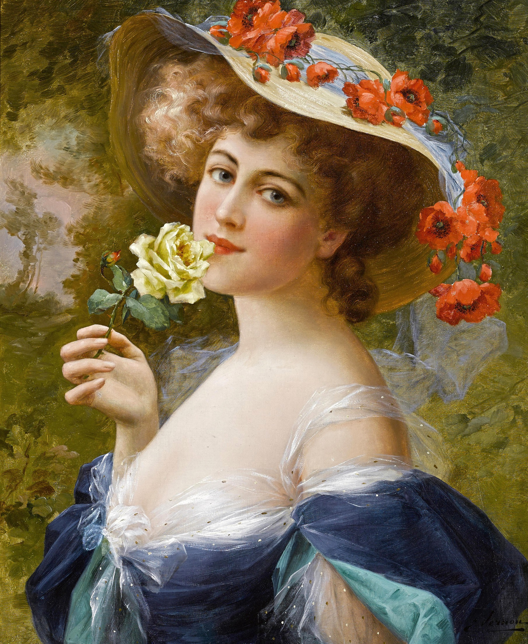 Portrait of a Lady by Emile Vernon - Date unknown
