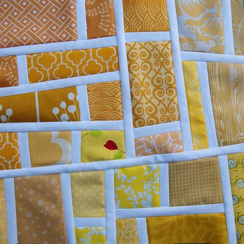 Mod Mosaic block for rainbow Mod Mosaic quilt