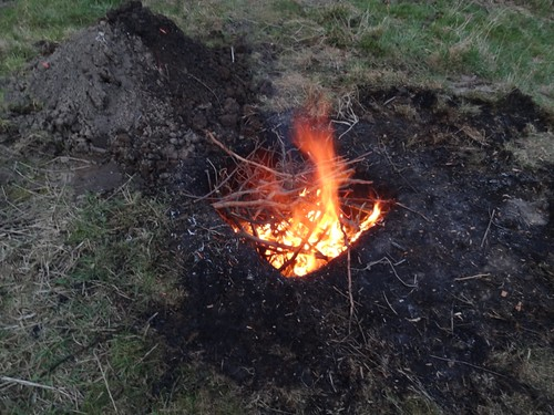 Feuer in Brenngrube