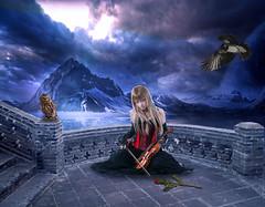 [免费图片素材] 图形, 图片处理, 女性 - 亚洲, 小提琴 ID:201204101400