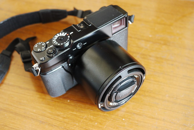 Fujifilm X-Pro1 with 60mm lens and hood