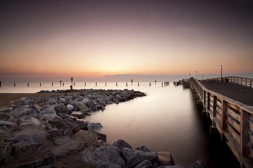 longexposure morning light texture water sunrise canon dawn pier rocks perspective maryland northbeach filters canonef1740mmf4lusm chesapeakebay waterscape chesapeakebeach 5dmkii singhrayrgnd hitech12gnd