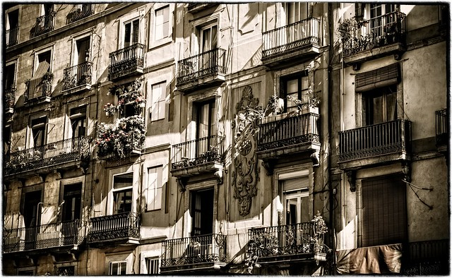 Apartment building in Barcelona, Spain | Flickr - Photo ...