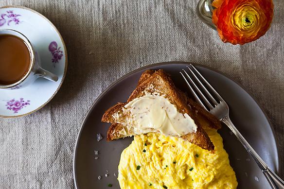poached scrambled eggs