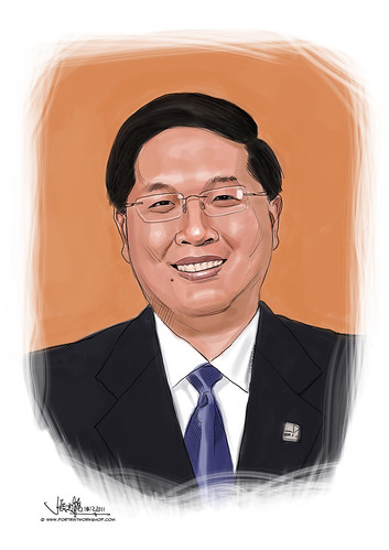 digital portrait illustration of (CE) Mr Lam Yi Young