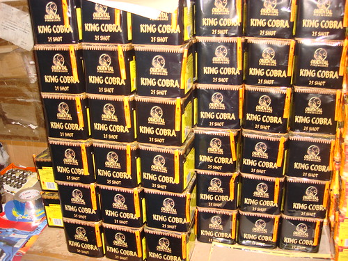 Rows Of King Cobra  - Epic Fireworks China Trip 2012