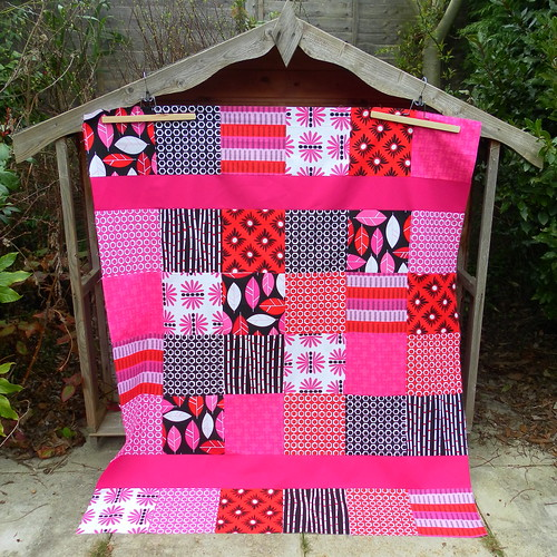 Girly quilt top