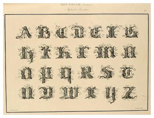 007-Alphabet-Album collection de soixante feuilles d'alphabets historiés 1843- Joseph-Balthazar Silvestre