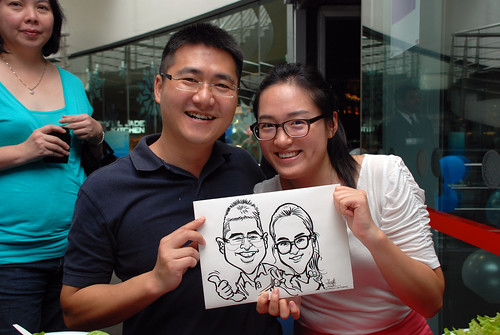Caricature live sketching for Singapore Suntec City Annual Party - 14