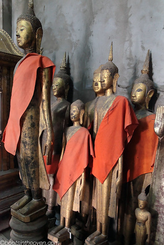 Some of the Buddha statues at Wat Xieng Thong