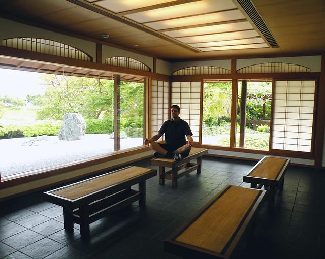 Mike Meditating