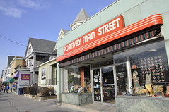 empirestatefuture posted a photo:	A great example of independent businesses along Elmwood Avenue in Buffalo.