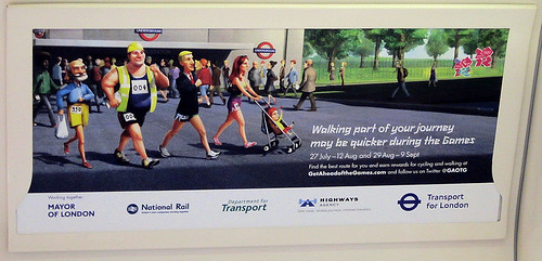 Walking May be Quicker Tube Poster