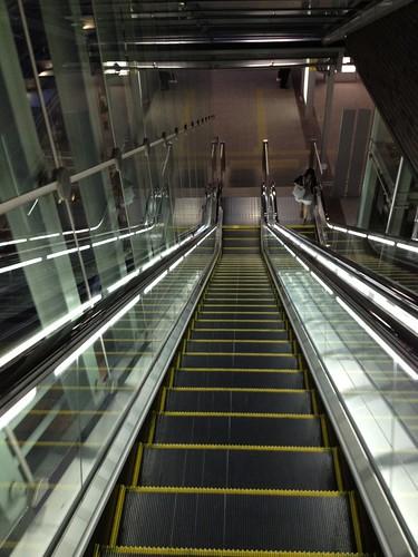 岡山駅バス乗り場へ