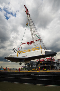 Space Shuttle Enterprise Move to Intrepid (201206060022HQ)