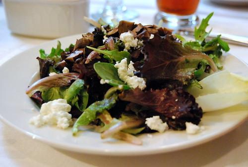 WPIR - warm mushroom and goat cheese salad