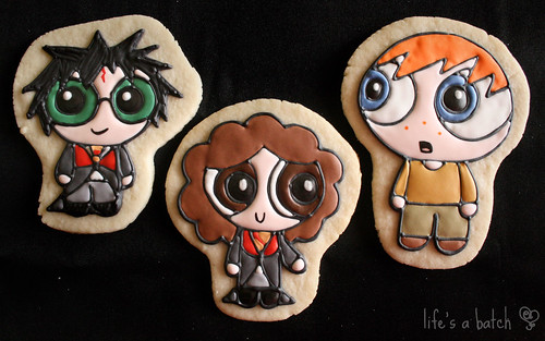 The Trio - Harry, Hermione & Ron Potterpuff Cookies.