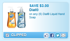 Dial Liquid Hand Soap  Coupon