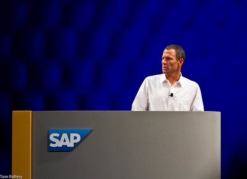 Lance Armstrong speaking at SapphireNow