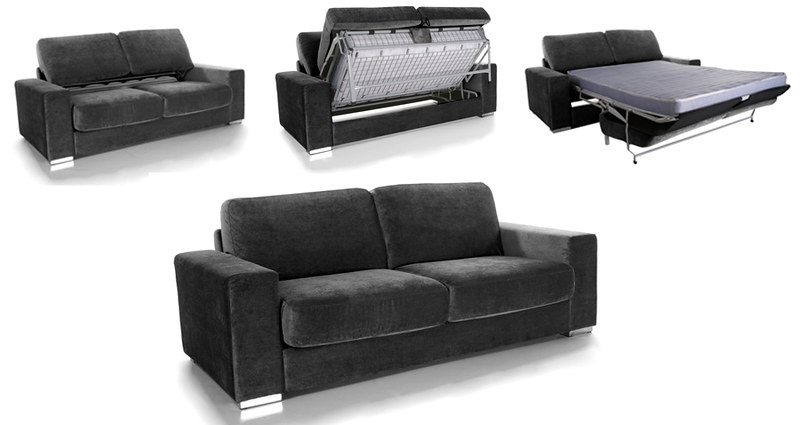 canape convertible modulo 3 places lit microfibre neuf ebay. Black Bedroom Furniture Sets. Home Design Ideas