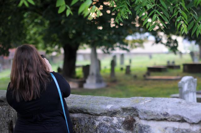 Lori at masonic cemetery