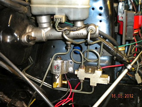 fox line lock install lots of pics ford mustang forums on Add a Phase Wiring Diagram Front Locker Switch Diagram for i mounted the line lock right under the factory proportioning valve the metal on the shock towers is pretty thick so i drilled 2 pilot holes and then used