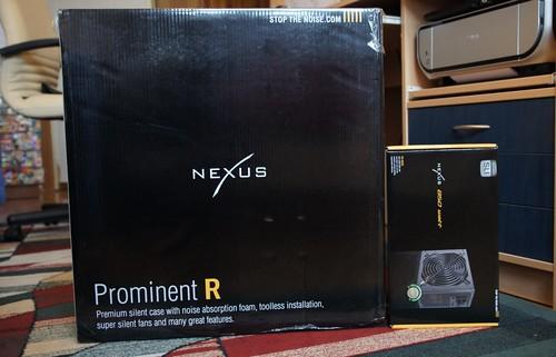 Nexus Prominent R korpusas tyliam kompiuteriui