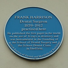 Photo of Frank Harrison blue plaque