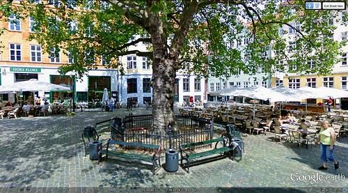Copenhagen walking route finish (via Google Earth)