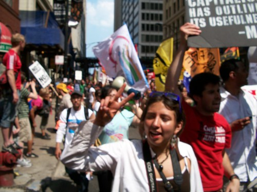 Thousands marched through the Chicago Loop on May 20, 2012 against the NATO summit. Despite state repression and arrests people made a clear statement against war and injustice. (Photo: Abayomi Azikiwe) by Pan-African News Wire File Photos