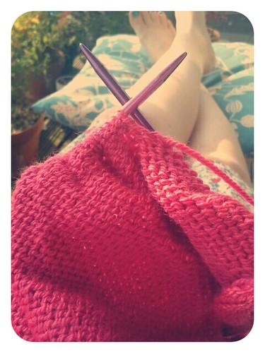 Sunny knitting