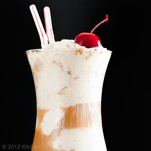 Root Beer Float with Cherry Garnish